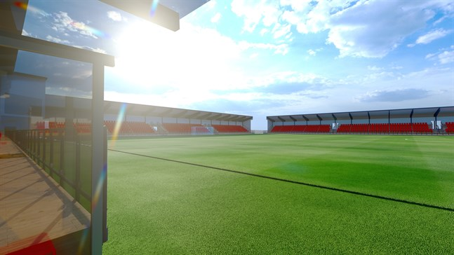 Stadens borgen för stadionbygget är nu bordlagd i fullmäktige.