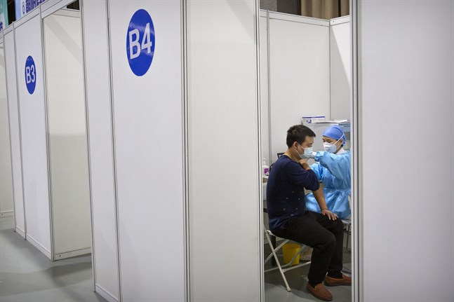 Vaccinering i Peking. Bilden har inget med förfalskningen att göra.