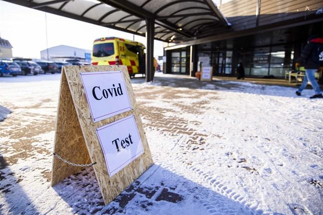Covid-test vid Wasaline terminalen.