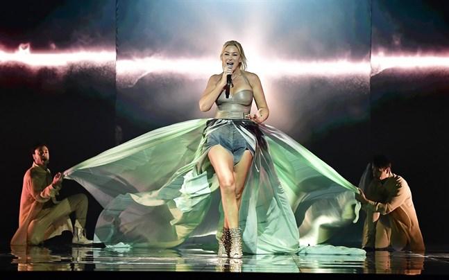 """Jessica Andersson tävlar med låten """"Horizon""""."""