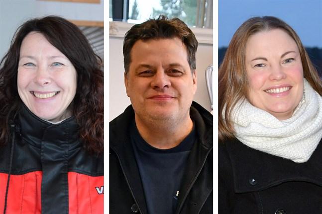Ann-Sofi Backgren, Peter Sjökvist och Anna-Lena af Hällström är tre av de sju ledamöterna från Sydösterbotten som får plats i nya Folktinget.