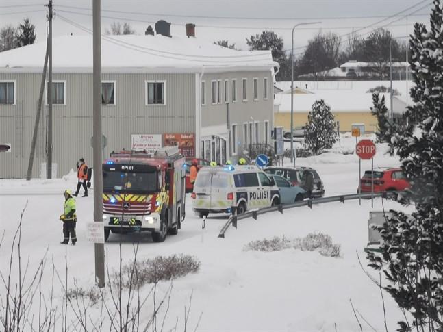 En trafikolycka inträffade i Vörå på söndagen.