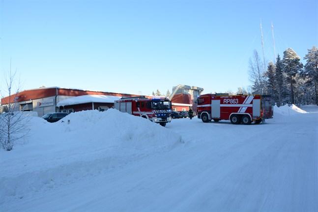 Brandkåren ryckte ut för en liten brand i en spånsilo vid Puucomp i Kristinestad.