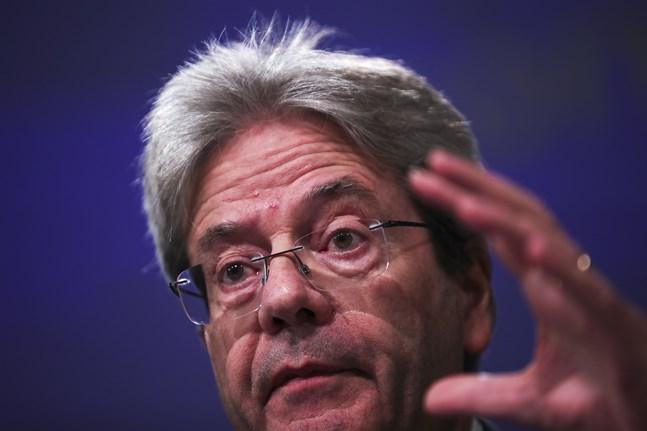 EU:s ekonomikommissionär Paolo Gentiloni. Arkivfoto.