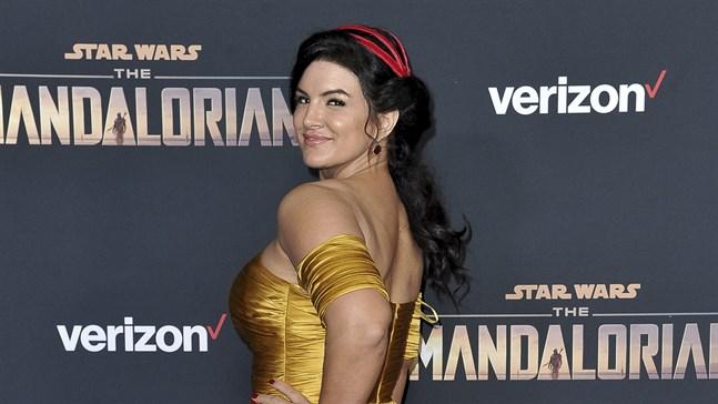 """Gina Carano på """"The Mandalorian""""-premiär i Los Angeles."""
