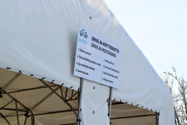 Ett nytt coronafall på lördag på Soites område. Exponering vid Karleby polisstation under tisdag eftermiddag.