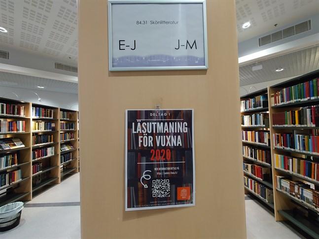 Nu stänger också Karleby stadsbibliotek på grund av den försämrade coronasituationen i Karleby.