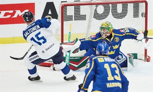 Christoffer Rifalk satte stopp för Miro Aaltonen och Finland.