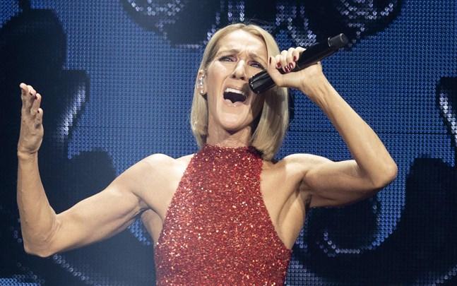 Celine Dion skjuter på sin turné i Europa.