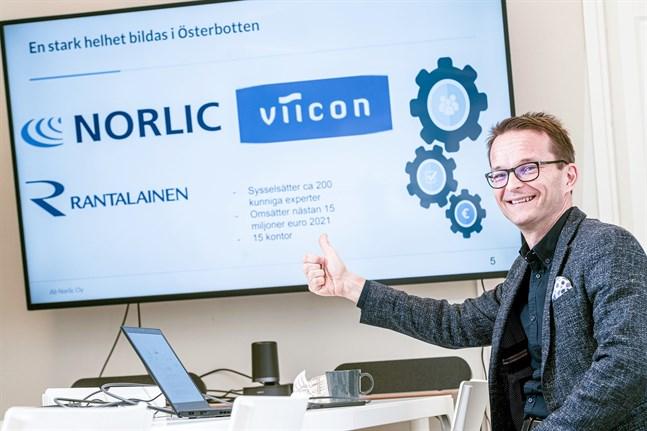 Norlic fortsätter verksamheten under sitt eget varumärke. Cedric Frostdahl blir aktieägare i Rantalainen och direktör för Österbottenregionen samt medlem i koncernens ledningsgrupp.