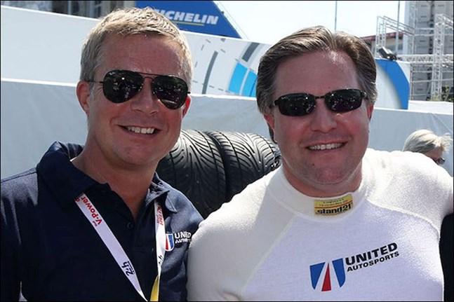 Richard Dean och Zak Brown, båda ägare av United Autosports. Brown är dessutom vd för McLarens formel 1-team.