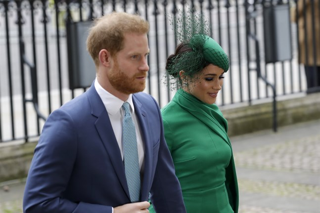 Det brittiska prinsparet Harry and Meghan, fotograferade i London i fjol.