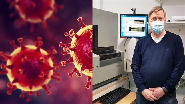 Lars Paulin från Österbotten har under den senaste veckan varit med och arbetat fram information om den första kända finländska varianten av coronaviruset.