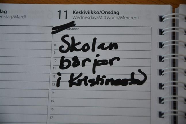Nästa läsår startar en dag tidigare än detta läsår i Kristinestad. Arbetsdagarna följer elevernas önskemål.