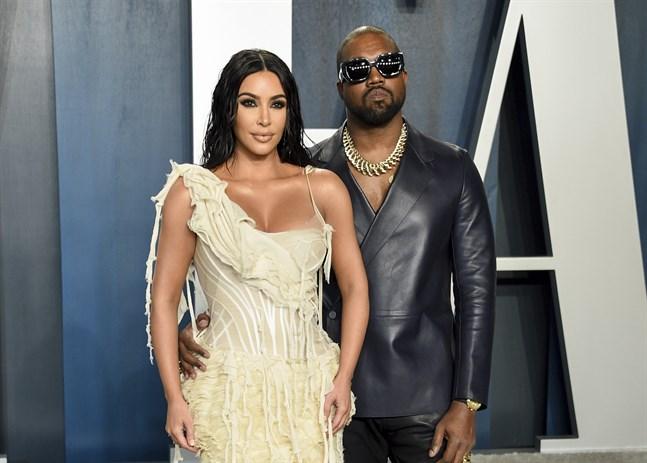 Kim Kardashian och Kanye West är på väg att skilja sig. Arkivbild.
