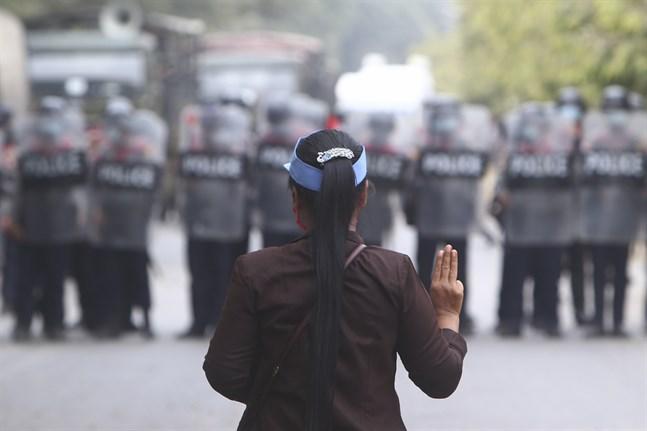 Protesterna i Myanmar har pågått i två veckor. Arkivbild.