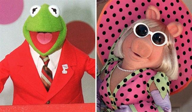 Kermit och Miss Piggy får finna sig i att varningstexter lagts ut till 18 olika avsnitt av Mupparna.