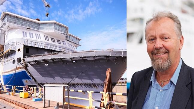 Aurora Botnia kan komma att försenas på grund av coronaläget vid varvet i Raumo. Men Peter Ståhlberg säger att en mindre försening inte har någon betydelse.