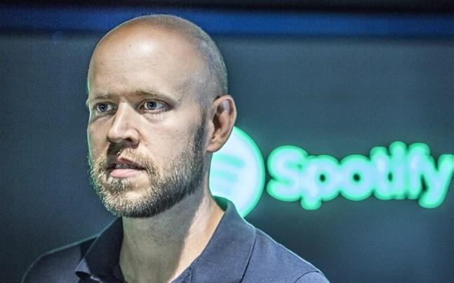 Spotifys grundare Daniel Ek meddelar nyheter vid ett förinspelat framträdande.