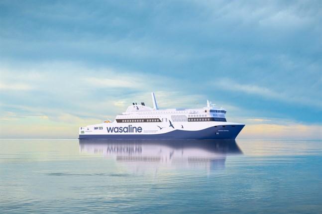 Nya Aurora Botnia ska få LNG från den nya terminalen, men till en början körs gasen med tankbil från Björneborg.