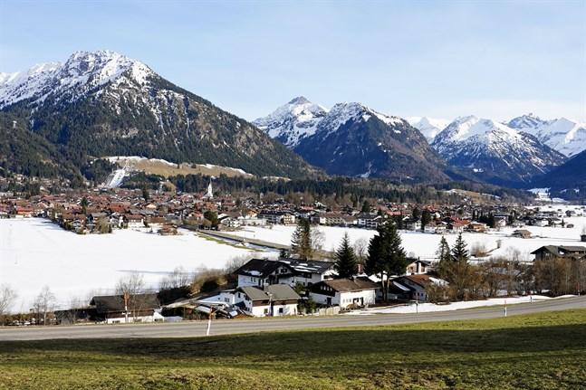 Vårvädret har dragit in över Oberstdorf.