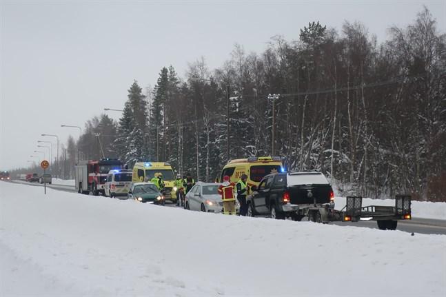 Trafikolyckan påverkade trafiken under eftermiddagen.
