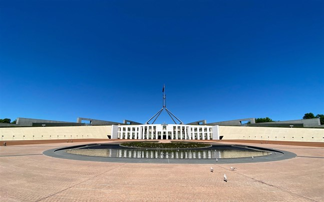 Australiens parlament i Canberra.