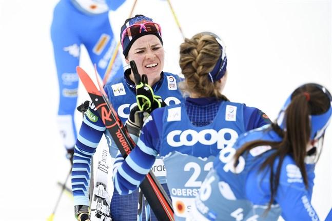 Krista Pärmäkoski hade ingen rolig dag i spåret i Oberstdorf.