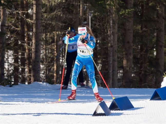 Rebecca Sandnäs åkte in på en 49:e plats i junior-VM på måndagen.