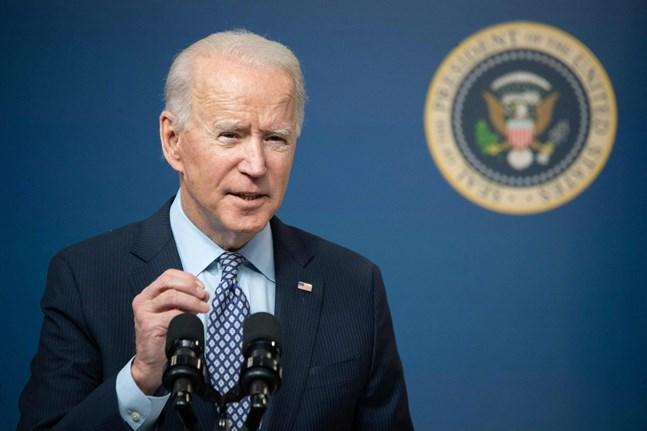 """USA:s president Joe Biden vill visa att """"det är en ny sheriff i stan""""."""