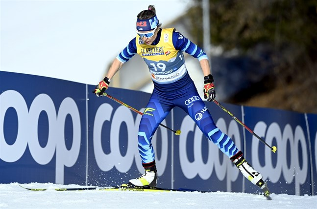Riitta-Liisa Roponen är 42 år gammal men utmanar fortfarande världseliten. Det bevisade hon i dag med sin tiondeplats på 10 kilometer fritt.
