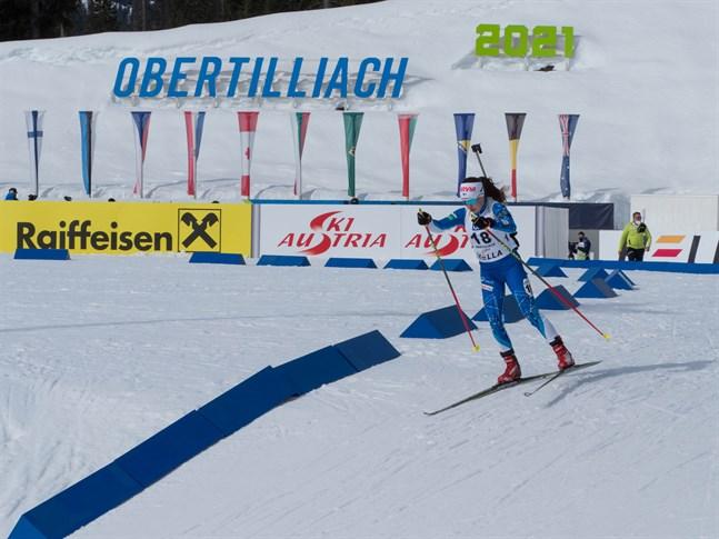 Rebecca Sandnäs gjorde sin fjärde start i juniorernas VM i skidskytte på fredagen.
