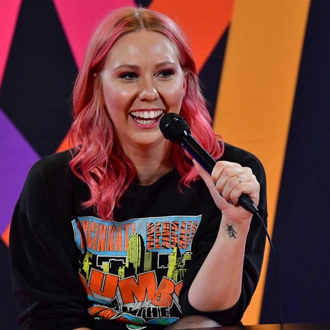 Clara Klingenström efter Melodifestivalens fjärde deltävling.