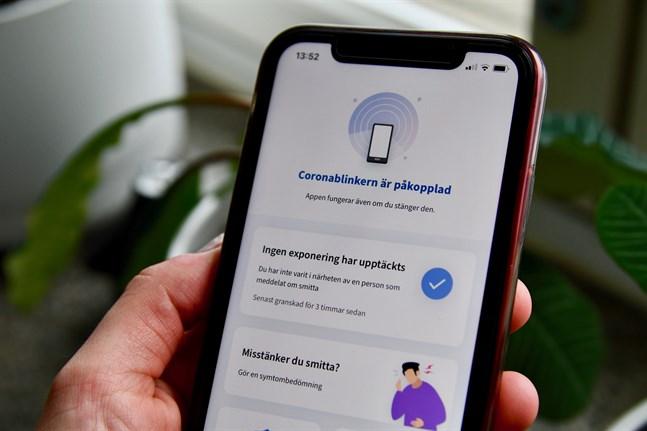 Coronablinkern finns för tillfället i 2,35 miljoner telefoner runtom i landet.