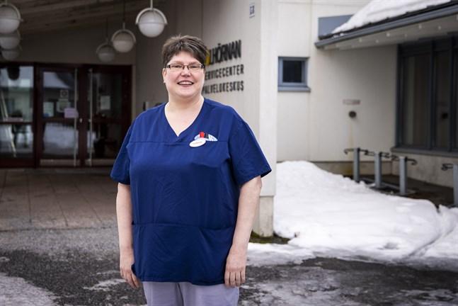 Catharina Sten har arbetat på serviceboendet Solhörnan i 19 år.