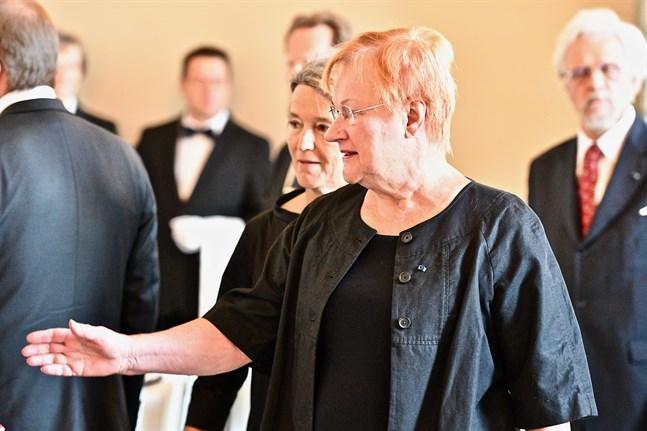 President Tarja Halonen fick ett oväntat förslag i ett samtal med ordföranden för det ryska parlamentets övre kammare nyligen. Arkivbild.
