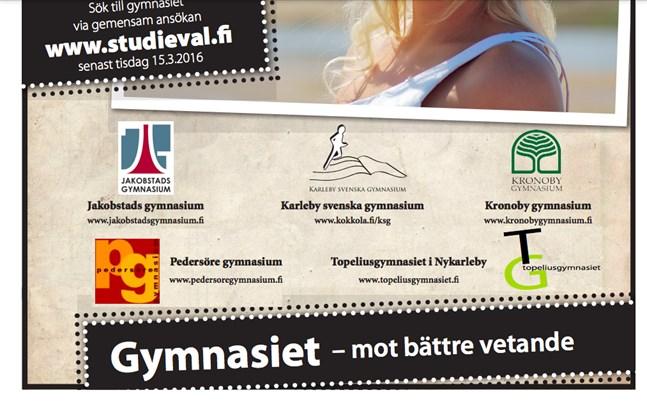 Denna annons från Team Nord publicerades i Österbottens tidning och Vasabladet 2012–2017.