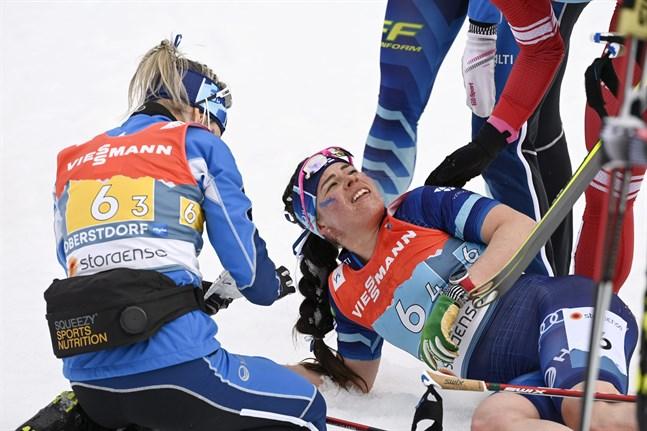 Krista Pärmäkoski var rejält slutkörd efter sin mäktiga insats på ankarsträckan i stafetten. I dag är hon i farten igen.