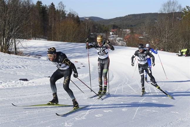 Tord Asle Gjerdalen var redan i tidigt skede av Vasaloppet bland de mest aktiva och kunde rycka ifrån till seger.