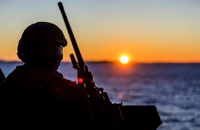En norsk soldat under en Natoövning.