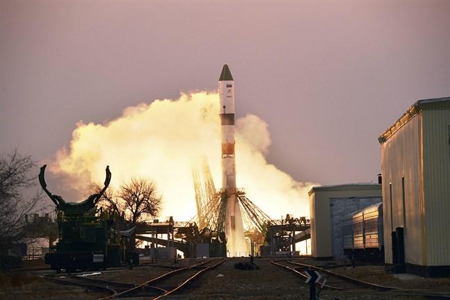 En rysk kosmodrom i Bajkonur i Kazakstan.