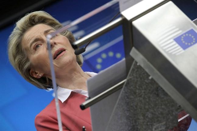 """EU-kommissionens ordförande Ursula von der Leyen hoppas på ett """"digital decennium""""."""