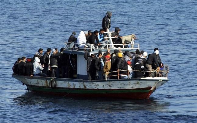 En migrantbåt i Medelhavet. Bilden är från ett annat tillfälle.