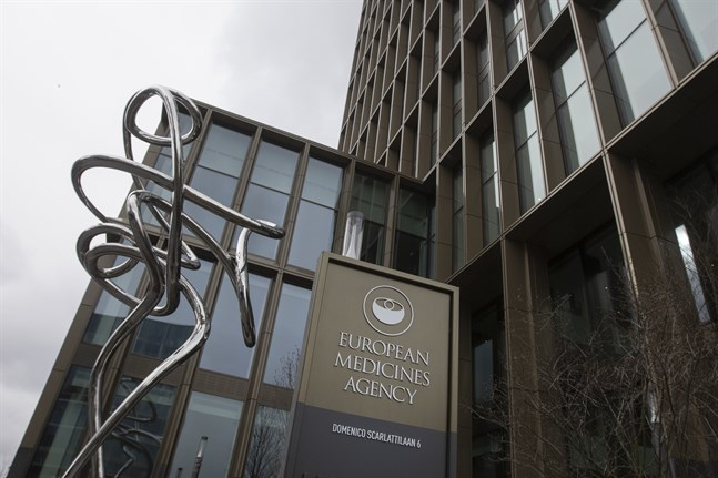 EU:s läkemedelsmyndighet EMA, belägen i Amsterdam, är i fokus i väntan på besked om Astra Zenecas virusvaccin. Arkivbild.