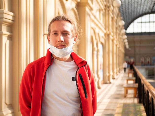 Denis Maskalets, bor i Barcelona och har kommit till Moskva för att vaccinera sig mot covid-19.