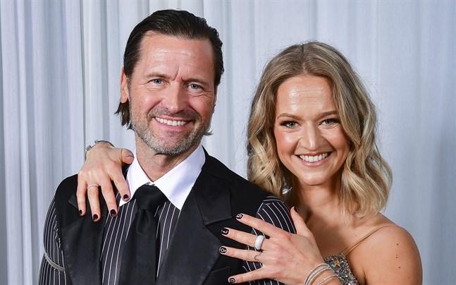 Martin Melin och danspartnern Maria Zimmerman.