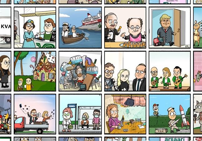 Kim's Comics ritas av Kim Filppula för VBL och ÖT.
