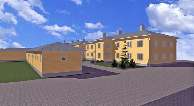 Byggstarten för tvåvåningshuset i hörnet av Skolgatan och  Kyrkotorget planeras till år 2022.