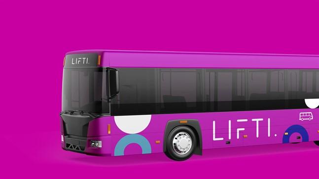 Så här ser den segrande färgen ut. De chockrosa bussarna börjar trafikera under 2022.