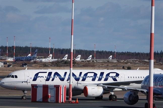 Det gäller munskyddskrav på Finnairs flyg. Kravet har varit i kraft sedan maj 2020.